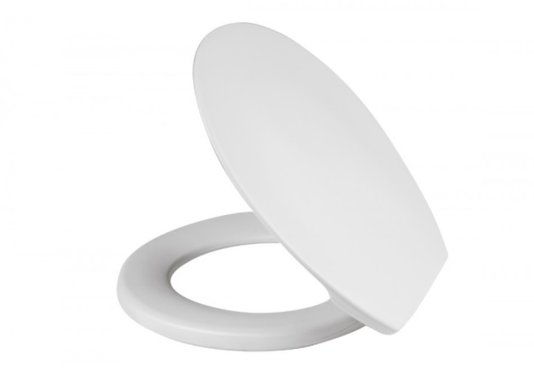 Assento Sanitário Universal Plástico com tampa-Branco