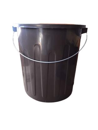 Balde Plástico c/ Alça Marrom – 30 litros