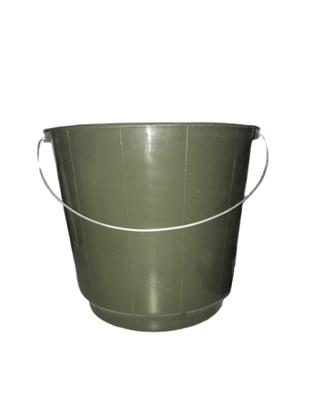 Balde Plástico com Alça de Ferro com 10 litros cor verde
