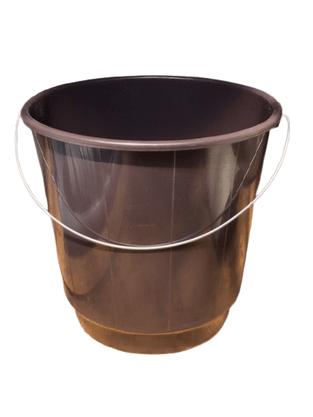 Balde Plástico com Alça de Ferro com 15 litros cor Marrom
