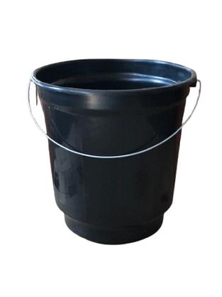 Balde Plástico com Alça de Ferro com 20 litros cor Preto
