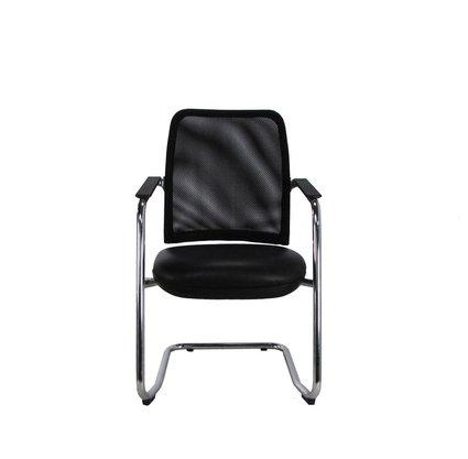 Cadeira Aprox.Newnet Tela Preta Base Cromada Cavaletti