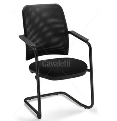 Cadeira Aproximação Newnet Preta Base Preta-Cavaletti