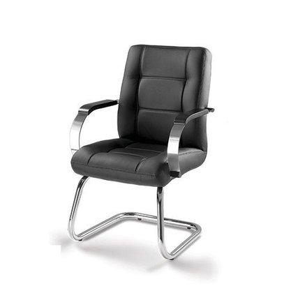 Cadeira Aprox. Prime Preto Base Fixa Cromada-Cavaletti