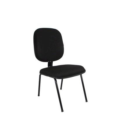 Cadeira Diretor Tecido Fixa 4 Pés Preta