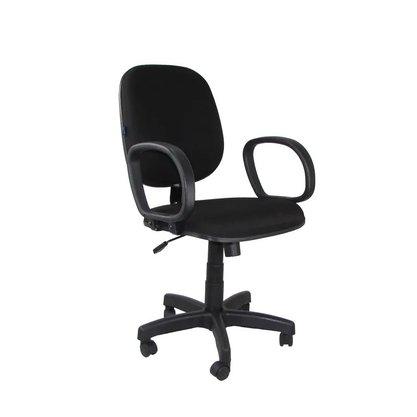 Cadeira Diretor Tecido Preto Giratória c/ Braço