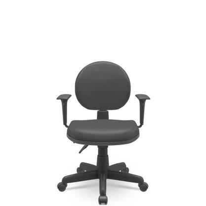 Cadeira Exe. Operativa Plus Preta Base Gir. Braço T Reg- Plaxmetal