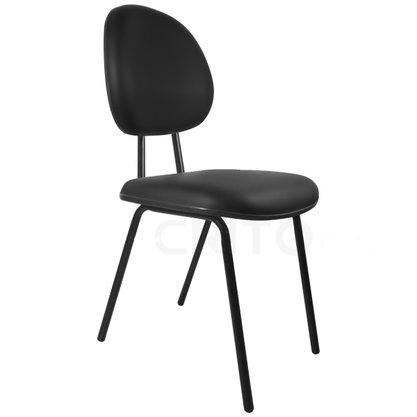 Cadeira Executiva Courino Preto com Base Fixa 4 Pés