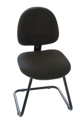 Cadeira Executiva Tecido Preto Base Aproximação