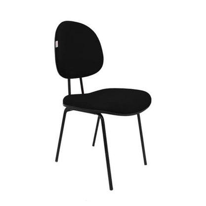 Cadeira Executiva Tecido Preto com Base Fixa 4 Pés