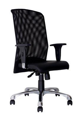 Cadeira Free Presidente Gir. Courino Preto c/ est Cromo