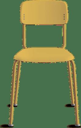 Cadeira Joy Fixa 4 pés Amarela- Cavaletti
