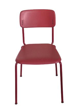 Cadeira Joy Fixa 4 pés Vermelha- Cavaletti
