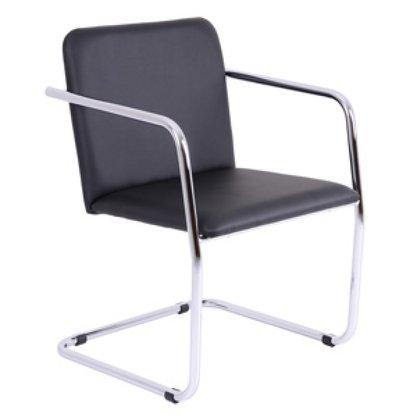 Cadeira Lotus Aprox. Facto Preto com estrutura Cromada