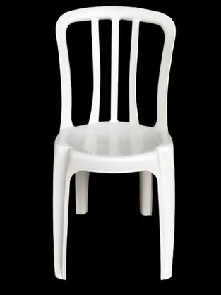 Cadeira Plástica Empilhável Bistrô Branca