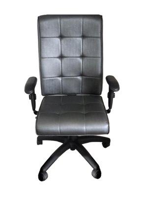 Cadeira Pres. Atria Grafite Base Preta Gir. e Braço T