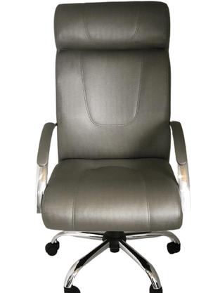 Cadeira Presidente Master Facto Rato com Base Cromada Giratória