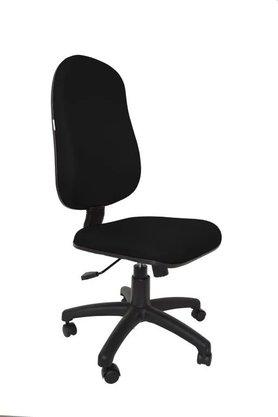 Cadeira Presidente Tecido Preto Giratória