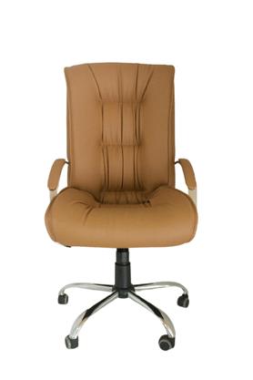 Cadeira Presidente Ultra Caramelo Base Cromada Gir.