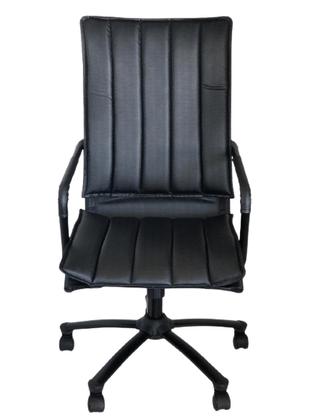 Cadeira Presidente Wave Preto com Base Preta Giratória