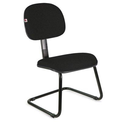 Cadeira Secretária Tecido Preto Base Aproximação