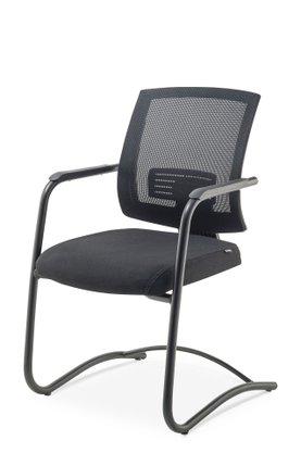 Cadeira UP Aprox.Telado Ass Cour.Preto Estrutura Preta