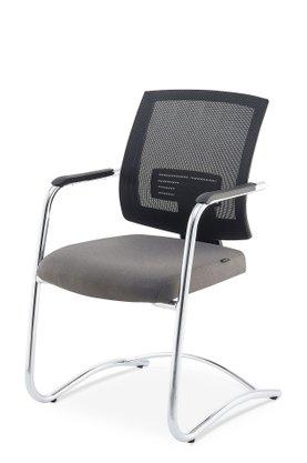 Cadeira UP Aprox. Telado Ass Preto e Estrutura Cromada