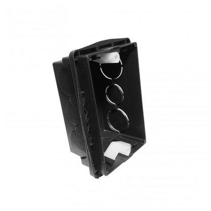 Caixa de Luz p/ Embutir Alvenaria 4x2 Preta- Unid