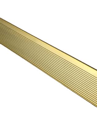 Cantoneira F Alumínio para Acabamento Ouro- Barra 3mts