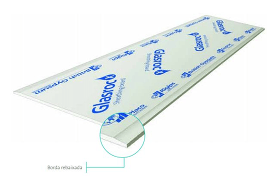 Chapa Gesso Glasroc X 1200x2400x12,5mm Placo- placa