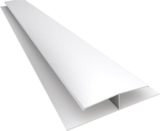 Emenda rígida PVC 63x6000x1mm Branco-  barra c/ 6mts