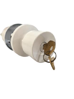 Fechadura Tubular Lockwell 90mm Branca