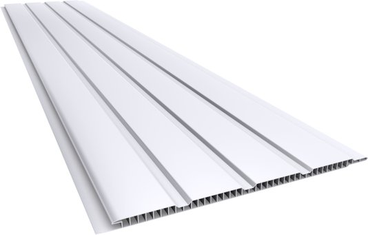 Forro PVC Canelado 200x7mm Branco Plasbil - Placa