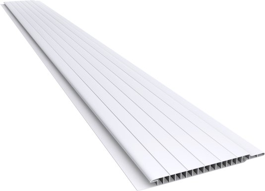 Forro PVC Frisado 100x7mm Branco Plasbil - M2