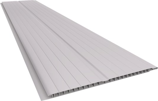 Forro PVC Geminado Frisado 200x7mm Cinza - M2