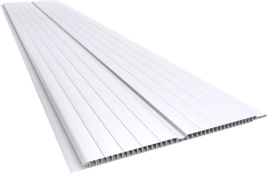 Forro PVC Gêmini Frisado 200x7mm Branco Plasbil-Placa