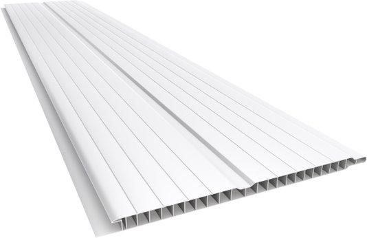 Forro PVC Duplo Nobre Frisado 200X10mm Branco Plasbil-Placa
