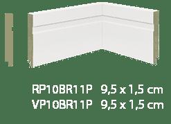 Guarnição/Vista MDF Premium 10cm Branco friso-2,40mts