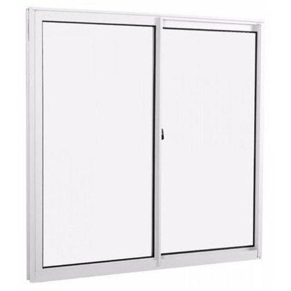 Janela de correr Alumínio 105x120cm Branco Sem Vidro