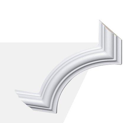 Kit 4 apliques de Poliuretano Z102 20x20mm Branco Gart