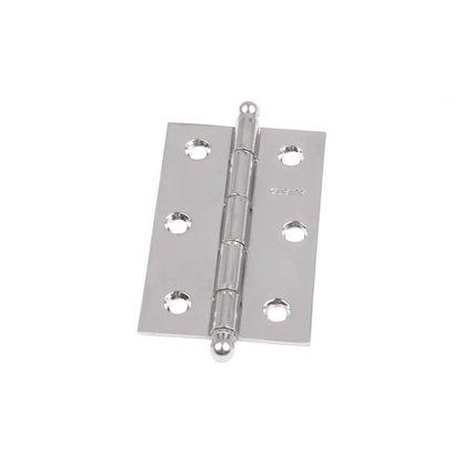 Kit com 3 Dobradiças 89x57mm Zincada para Portas