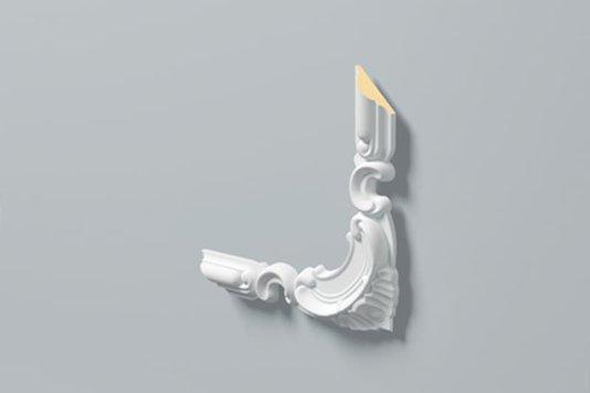 Kit 4 Apliques de Poliuretano Z101 40x20mm Branco Gart