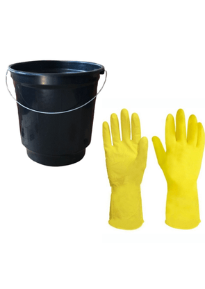 Kit de Limpeza com Balde e Luva