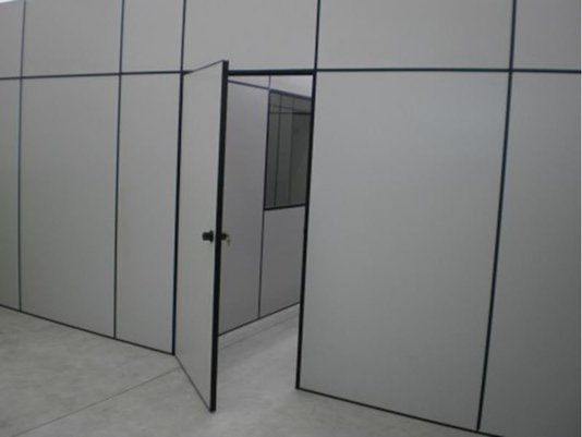 Kit Porta Eucatex 820x2100x35mm cor Cristal c/ Preto