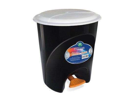 Lixeira Plástica com Pedal 12 litros Preta