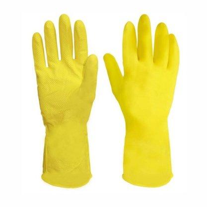 Luva de Látex Multiuso Tamanho 9 Amarela- Por Par