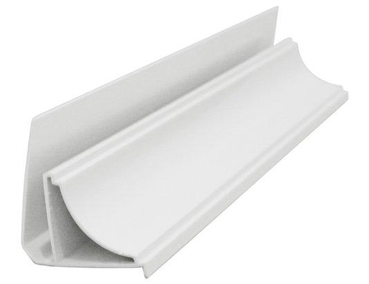 Rodaforro Meia Cana PVC 23X35X6000mm Branco- Valor barra com 6mts
