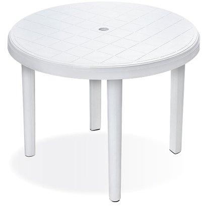 Mesa Plástica Redonda Desmontável 940x710mm Branca