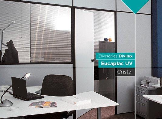 Painel divisória Eucatex 1200x2110x35mm Cristal - M2
