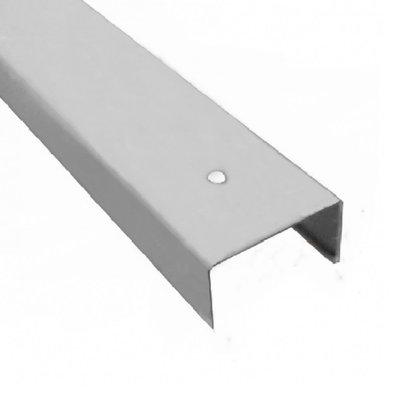 Perfil Calha para divisória N19 35x0,43mm- Cinza